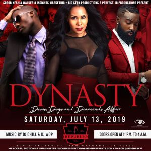 Dynasty: Divas, Dogs & Diamonds Affair @ Republic New Orleans