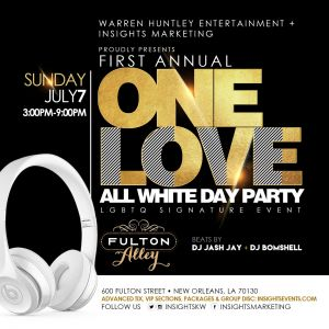 One Love LGBTQ Signature White Party @ Fulton Alley