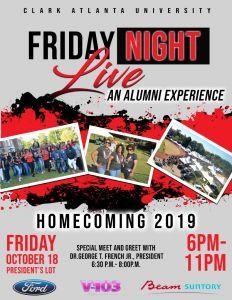 Friday Night Live - An Alumni Live @ President's Lot - CAU